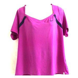 Nike dri -fit purple workout top sz 1X